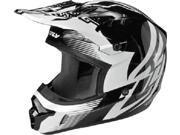 FLY Kinetic Inversion Helmet- [Black/White] (XX-Large) [73-33412X]