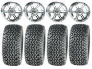 ITP SS212 Chrome Golf Wheels 12 23x10 12 All Trail Tires E Z GO Club Car