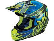 FLY F2 Carbon Acetylene Helmet- [Blue/Hi Viz] (X-Large) [73-4053X]