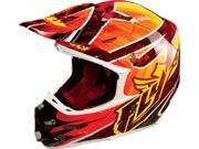 FLY F2 Carbon Acetylene Helmet- [Red/Yellow] (X-Large) [73-4052X]