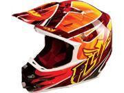 FLY F2 Carbon Acetylene Helmet [Red Yellow] Medium [73 4052M]