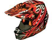 FLY F2 Carbon Helmet- Snow [Orange/Black/White] (XX-Large) [73-49002X]