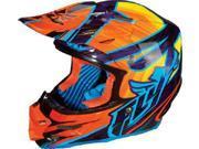 FLY F2 Carbon Acetylene Helmet- [Orange/Purple] (Medium) [73-4054M]