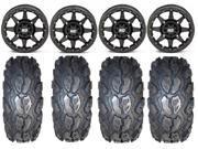 STI HD5 14 Beadlock MB ATV Wheels 26 MotoGrip Tires Kawasaki Teryx Mule