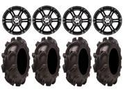 ITP SS212 14 Wheels Black 32 Mammoth Mayehm Tires Can Am Commander Maverick Renegade Outlander Defender