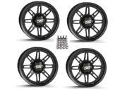 ITP SS216 ATV Wheels Rims Matte Black 12 Sportsman RZR Ranger