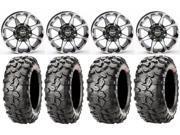 STI HD6 14 Wheels Machined 27 Clincher Tires Can Am Commander Maverick Renegade Outlander Defender
