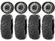 ITP Blk Ops Beadlock 14 Wheels 28 Roctane XS Tires Yamaha Viking Wolverine YXZ1000R