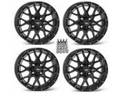 ITP Hurricane ATV Wheels Rims Matte Black 15 Sportsman 550 850 1000
