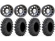 MSA Black R Forged F2 14 ATV Wheels 30 Outback Max Tires Kawasaki Teryx Mule