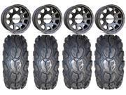 MSA Black R Forged F2 14 ATV Wheels 26 MotoGrip Tires Can Am Commander Maverick Renegade Outlander Defender