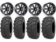 MSA Blk Kore 14 UTV Wheels 28 Bear Claw EVO Tires Yamaha Viking Wolverine YXZ1000R