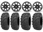 STI HD6 14 Wheels Black 28 Bear Claw EVO Tires Sportsman RZR Ranger