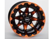 STI HD6 Radiant Orange Black Golf Wheel 10x7 4 4 3 4 [10HD604 ORG]