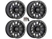 "Method 401 Beadlock ATV/UTV Wheels/Rims Black 15"" (4+3)  Honda Pioneer 1000"