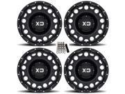 KMC XS129 Holeshot ATV Wheels Rims Black 14 Kawasaki Teryx Mule