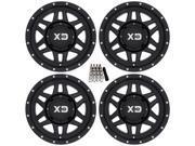 KMC XS128 Machete ATV Wheels Rims Black 14 Kawasaki Teryx Mule
