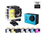 """Outdoor 2"""" 720P 5MP Waterproof Helmet Sport Action Video Camera Cam DV--Gold"""