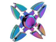 New Four Crabs Rainbow Fidget Spinner Metal Fingertip Gyro Hand Peg-top Anxiety Toy for Kids Adults Autism