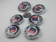 7 Pcs Car Emblem Badge Set Car ALPINA Logo For BMW 74mm/82mm