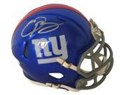 Odell Beckham Jr. Signed New York Giants Speed Mini Helmet JSA 9SIA4F03R10501