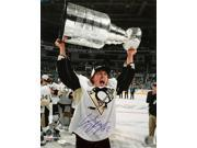 Carl Hagelin Signed Pittsburgh Penguins 16x20 2016 Stanley Cup Trophy Photo JSA 9SIA4F04FD1477