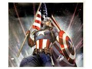 Stan Lee Marvel Comics Signed 28x24 Captain America Canvas JSA 9SIA4F04N21006