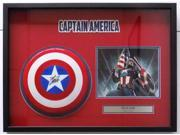 Stan Lee Marvel Comics Signed Captain America Mini Shield Shadowbox JSA 9SIA4F03E46292