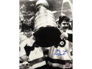 Bernie Parent Signed 11x14 Philadelphia Flyers Stanley Cup Photo JSA 9SIA4F04UJ1877