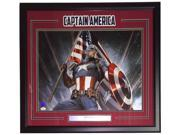 Stan Lee Marvel Comics Signed Framed 16x20 Captain America Flag Photo JSA+Lee 9SIA4F04VW7756