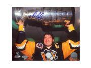 Mario Lemieux Signed Pittsburgh Penguins Stanley Cup Photo 9SIA4F04W86823