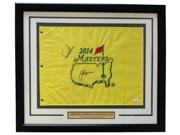 Arnold Palmer Jack Nicklaus Signed Framed Yellow PGA Masters Flag JSA LOA 9SIA4F05619025