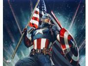 Stan Lee Signed Marvel Captain America 16x20 Photo PSA 9SIA4F05MP1620