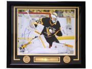 Matt Murray Signed Framed Pittsburgh Penguins 16x20 Stanley Cup Save Photo JSA 9SIA4F04M40696