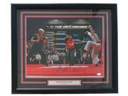 Ralph Macchio Signed Framed Karate Kid 16x20 Photograph vs Johnny Lawrence JSA 9SIA4F05JC3675