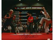 Ralph Macchio Signed Karate Kid 16x20 Photograph vs Johnny Lawrence JSA 9SIA4F05J71781