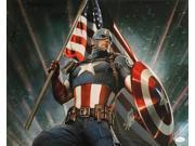Stan Lee Marvel Comics Signed 16x20 Captain America Photo JSA 9SIA4F01MD7214