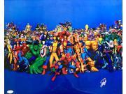 Stan Lee Marvel Comics Signed 16x20 Characters Photo JSA WP222259 9SIA4F05N44538