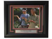 Ralph Macchio Signed Framed Karate Kid 8x10 Photograph with Mr. Miyagi JSA 9SIA4F05JD9668