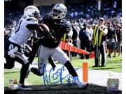Amari Cooper Signed Oakland Raiders 8x10 Touchdown Photo JSA ITP 9SIA4F067X8398