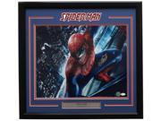 Stan Lee Signed Framed Marvel Spider-Man Metallic Photo JSA ITP+Lee Holo 9SIA00Y6X00340