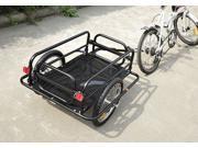 Aosom Folding Bicycle Cargo Trailer Utility Bike Cart Carrier Garden Patio Tool New