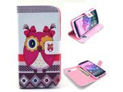 Beautiful Owl Girl Pattern PU Leather Full Body Case with Stand and Card Holder for LG Nexus 5 with Screen Protector