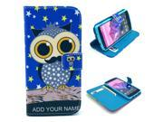 Star Owl Pattern PU Leather Full Body Case with Stand and Card Holder for LG Nexus 5 with Screen Protector
