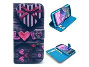 Love Gift Box Pattern PU Leather Full Body Case with Stand and Card Holder for LG Nexus 5 with Screen Protector