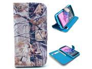 Camo Branch Tree Pattern PU Leather Full Body Case with Stand and Card Holder for LG Nexus 5 with Screen Protector
