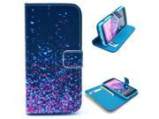 Sparkle Space Pattern PU Leather Full Body Case with Stand and Card Holder for LG Nexus 5 with Screen Protector