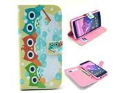 Owl Shower Cute Pattern PU Leather Full Body Case with Stand and Card Holder for LG Nexus 5 with Screen Protector