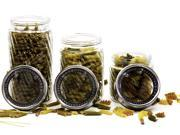 3 Pc Glass Canister Set - Cookie Jar or Food Storage Container w/ Air Tight Lids (Twist Pattern)