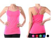 6 Pack Women's Fitness Tank Top - Workout Spaghetti Strap Yoga Top (Various Colors)